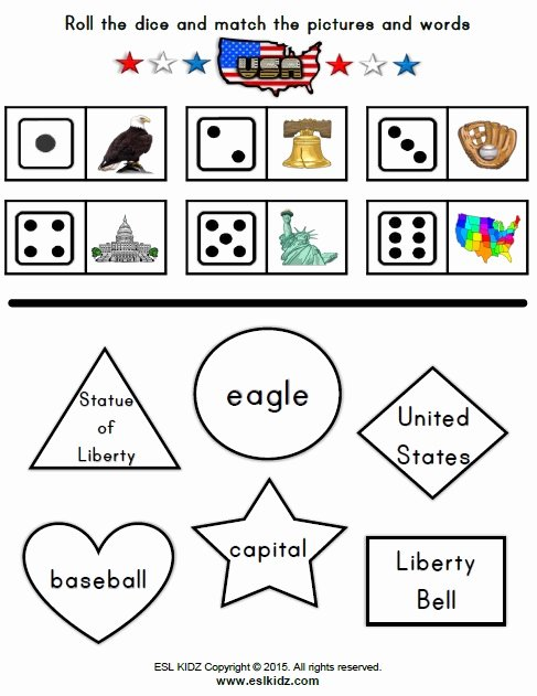 Independence Day Worksheets for Preschoolers New Usa Activities Games and Worksheets for Kids