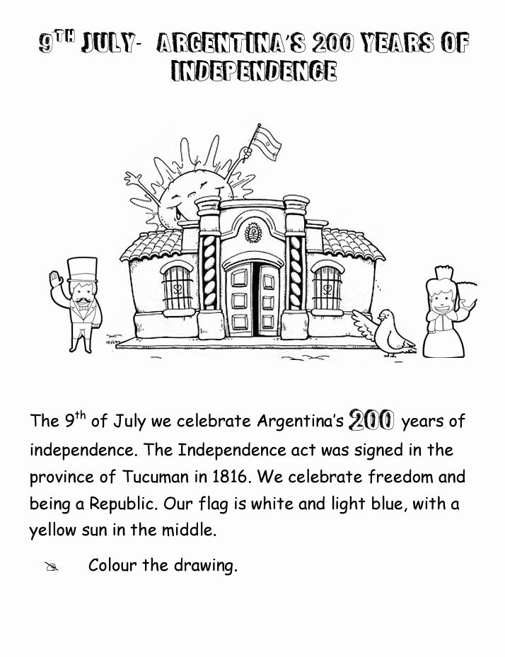 Independence Day Worksheets for Preschoolers top Worksheet Argentina S Independence Day 200years Of