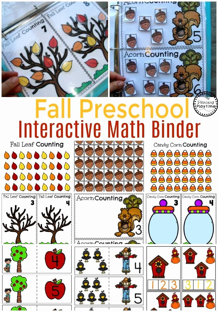 Interactive Worksheets for Preschoolers Lovely Interactive Math Binder Planning Playtime