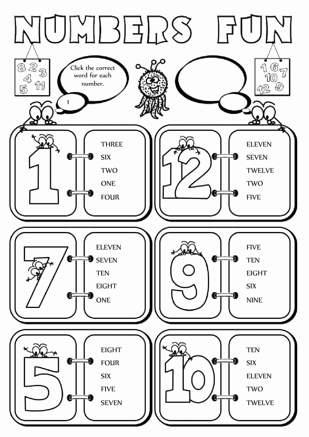 Interactive Worksheets for Preschoolers Lovely the Numbers Interactive and Able Worksheet You Can