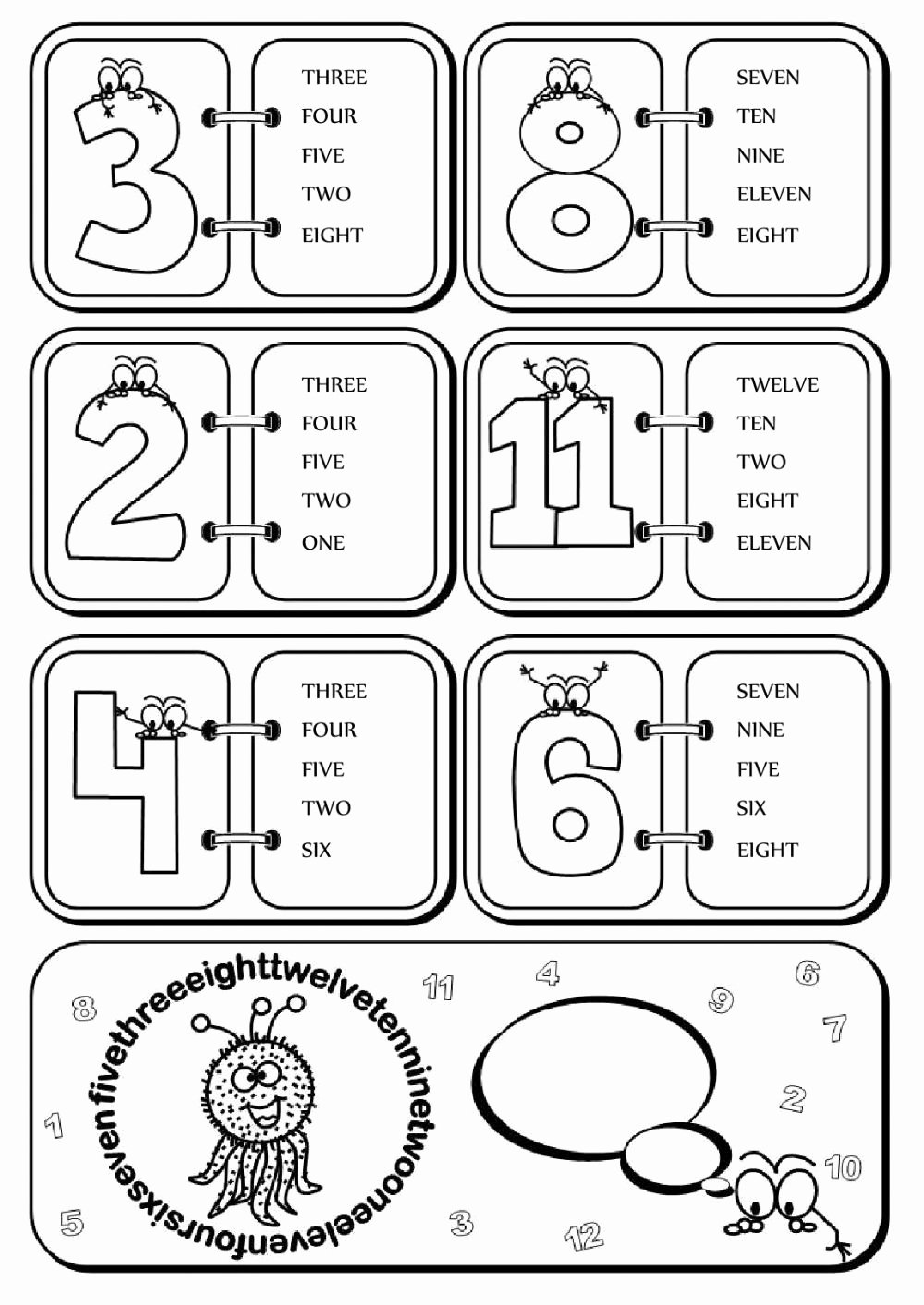 Interactive Worksheets for Preschoolers New Numbers Fun 1 12 Interactive Worksheet