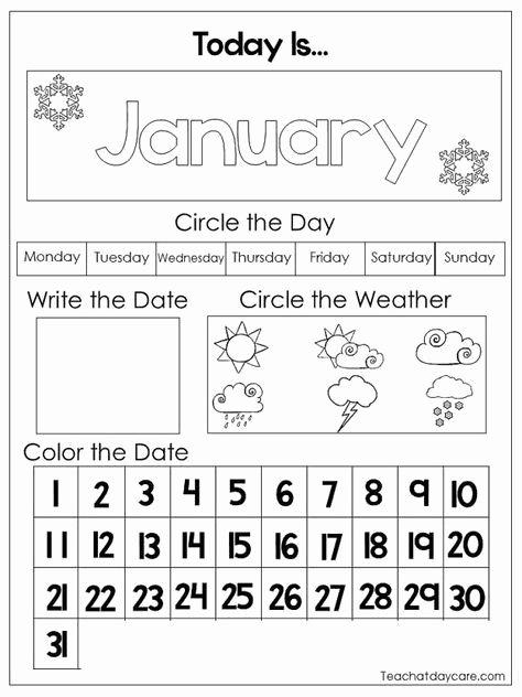 Is are Worksheets for Preschoolers Best Of 12 Printable Preschool Calendar Worksheet Pages Month Day