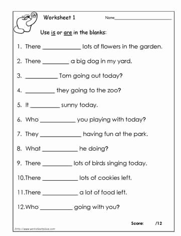 Is are Worksheets for Preschoolers Kids Use is or are Worksheet 1 Students Must Decide Between