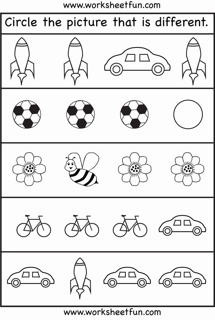 Is are Worksheets for Preschoolers top Worksheet Same Differentrksheets for toddler