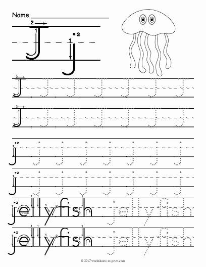J Worksheets for Preschoolers top Free Printable Tracing Letter J Worksheet