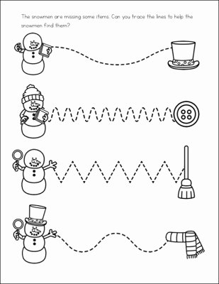January Worksheets for Preschoolers Lovely Free Snowman Worksheets for Preschool and Kindergarten Students
