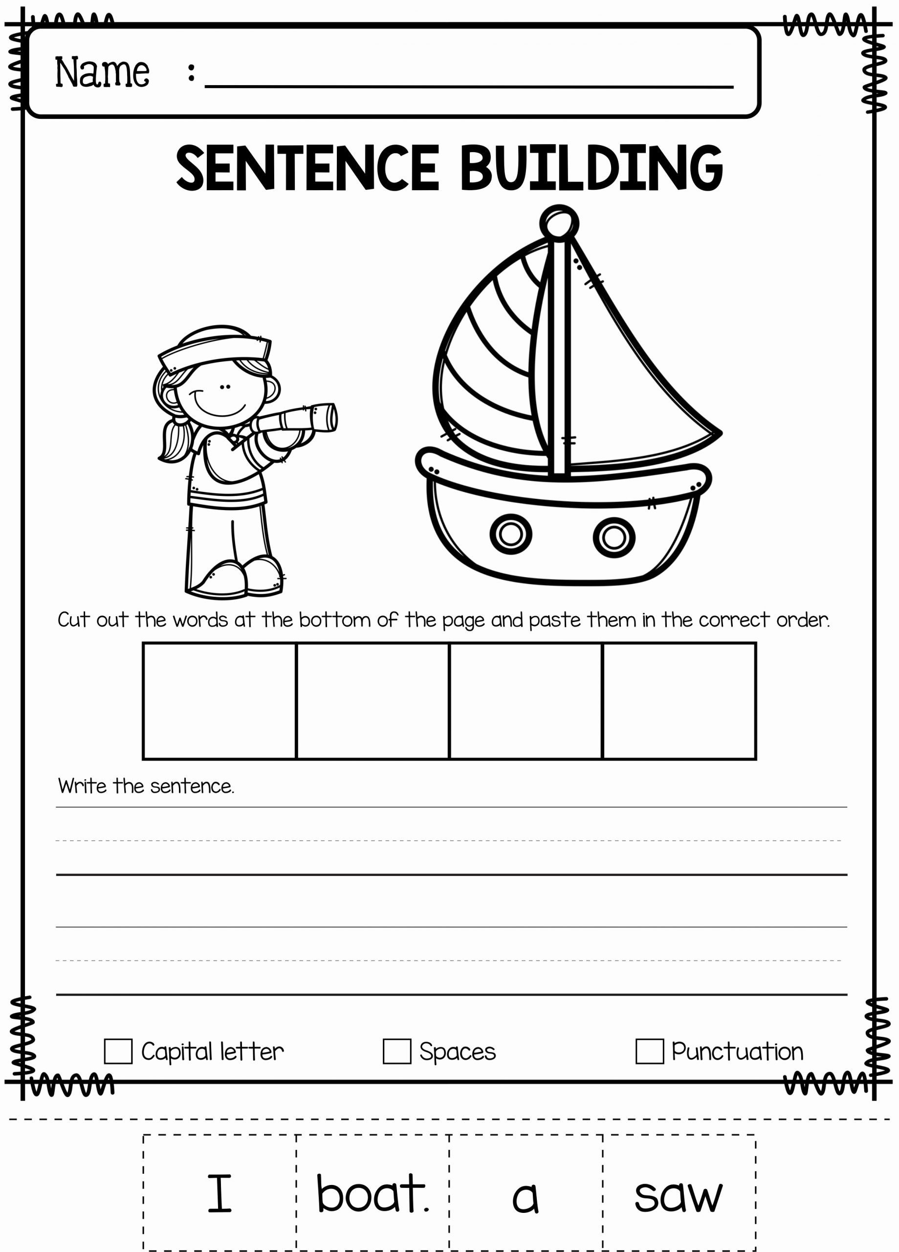 June Worksheets for Preschoolers Fresh June Sentence Building Has 30 Pages Of Sentence Building