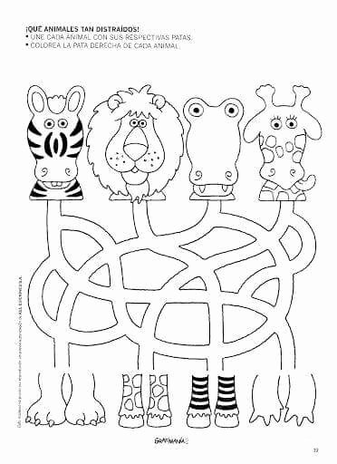 Jungle Animals Worksheets for Preschoolers Ideas Pin by Julia Wulff On Preescolarcito