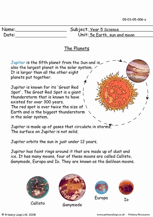 Jupiter Worksheets for Preschoolers Best Of solar System Jupiter Worksheets