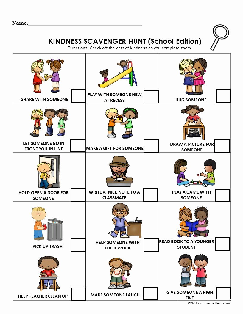 Kindness Worksheets for Preschoolers Free Acts Of Kindness Ideas for Kids with Free Printable Kid