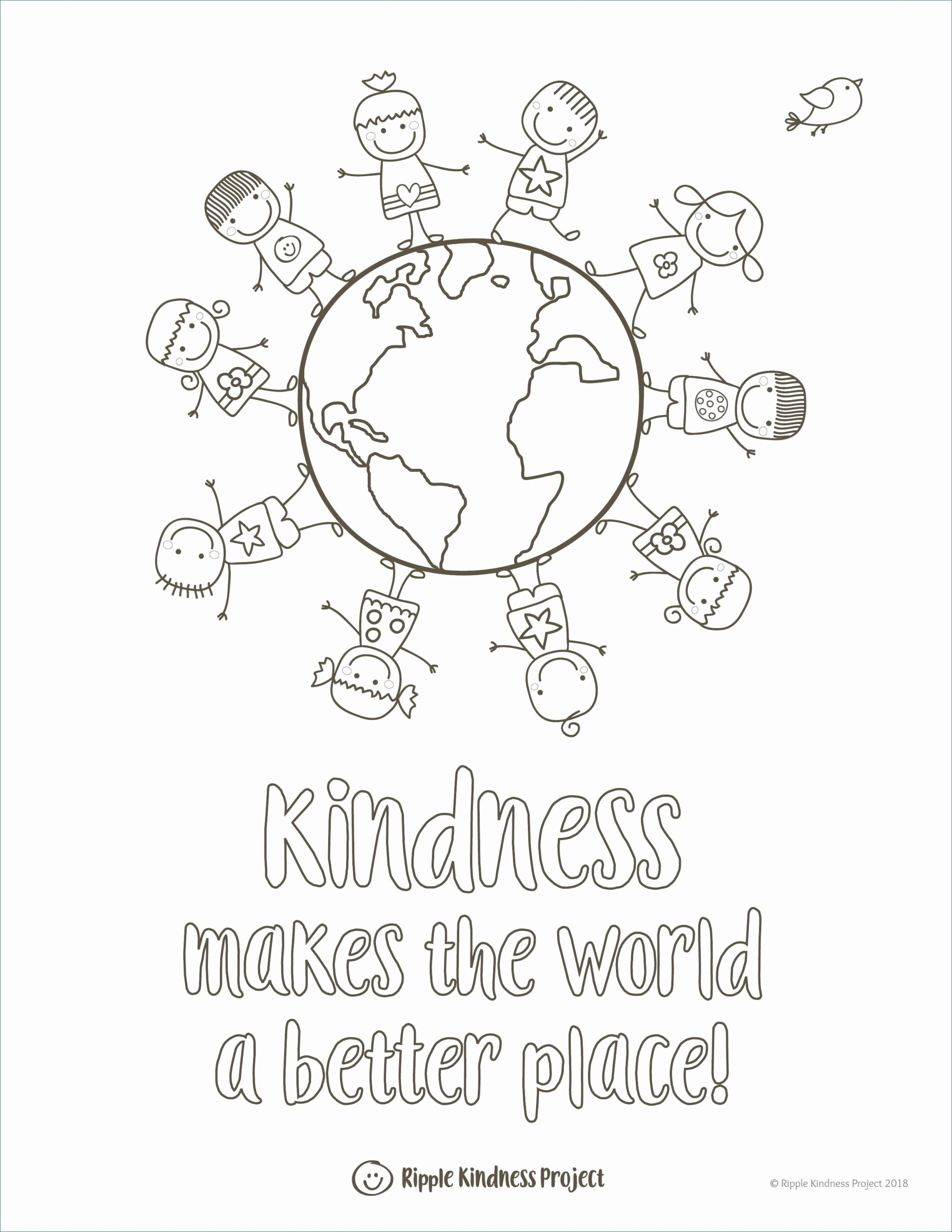 Kindness Worksheets for Preschoolers Kids Coloring Pages Preschool Color Book Printable