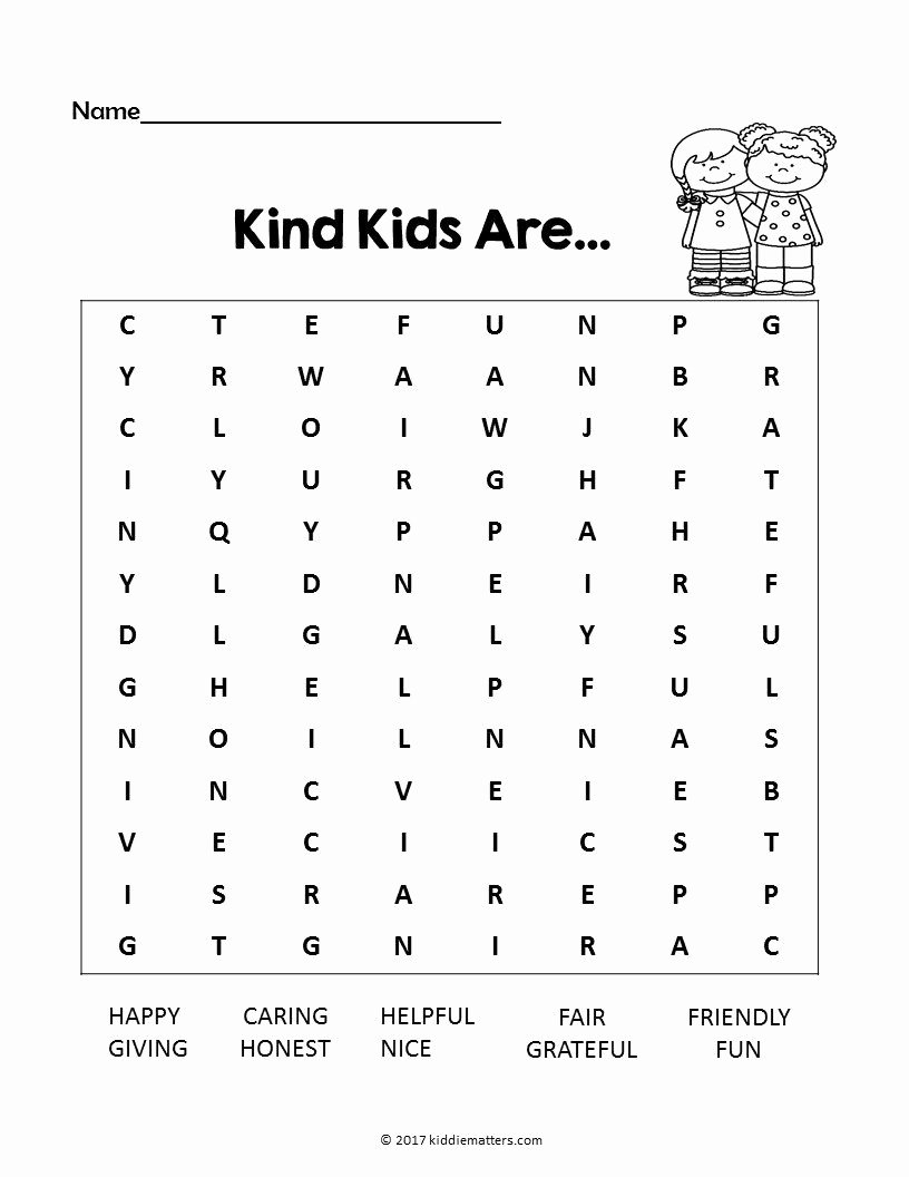 Kindness Worksheets for Preschoolers Lovely Acts Of Kindness Ideas for Kids with Free Printable Kid