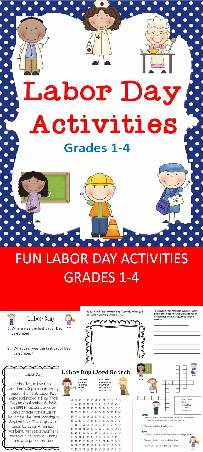 Labor Day Worksheets for Preschoolers Ideas Labor Day Activities