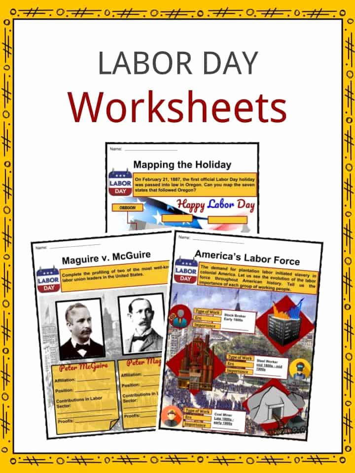 Labor Day Worksheets for Preschoolers Lovely Labor Day Facts Worksheets & Historic Information for Kids