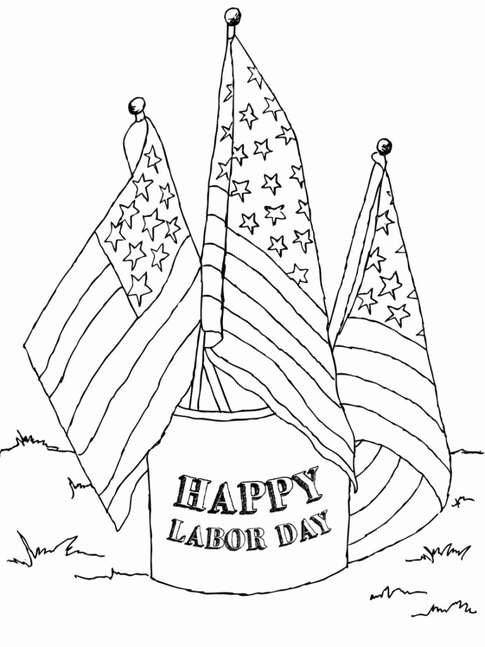 Labor Day Worksheets for Preschoolers New Labor Coloring Best for Kids Printable Flags 768x1024 Medium