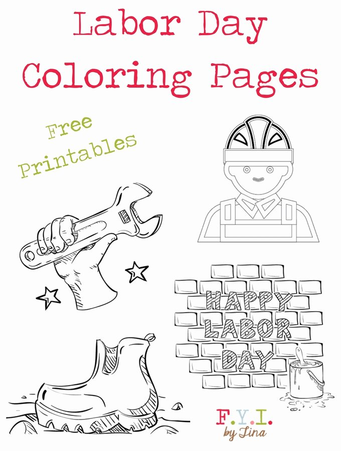 Labor Day Worksheets for Preschoolers New Labor Day Coloring Pages Free Printable • Fyi by Tina
