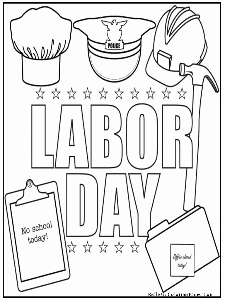Labor Day Worksheets for Preschoolers Printable Labor Day Coloring Pages for Kids Preschool and