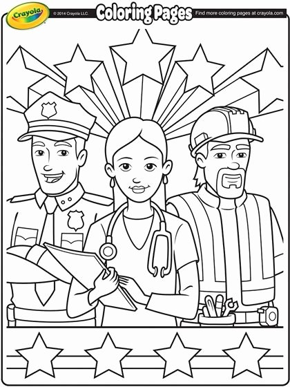 Labor Day Worksheets for Preschoolers Printable Labor Day Workers On Crayola