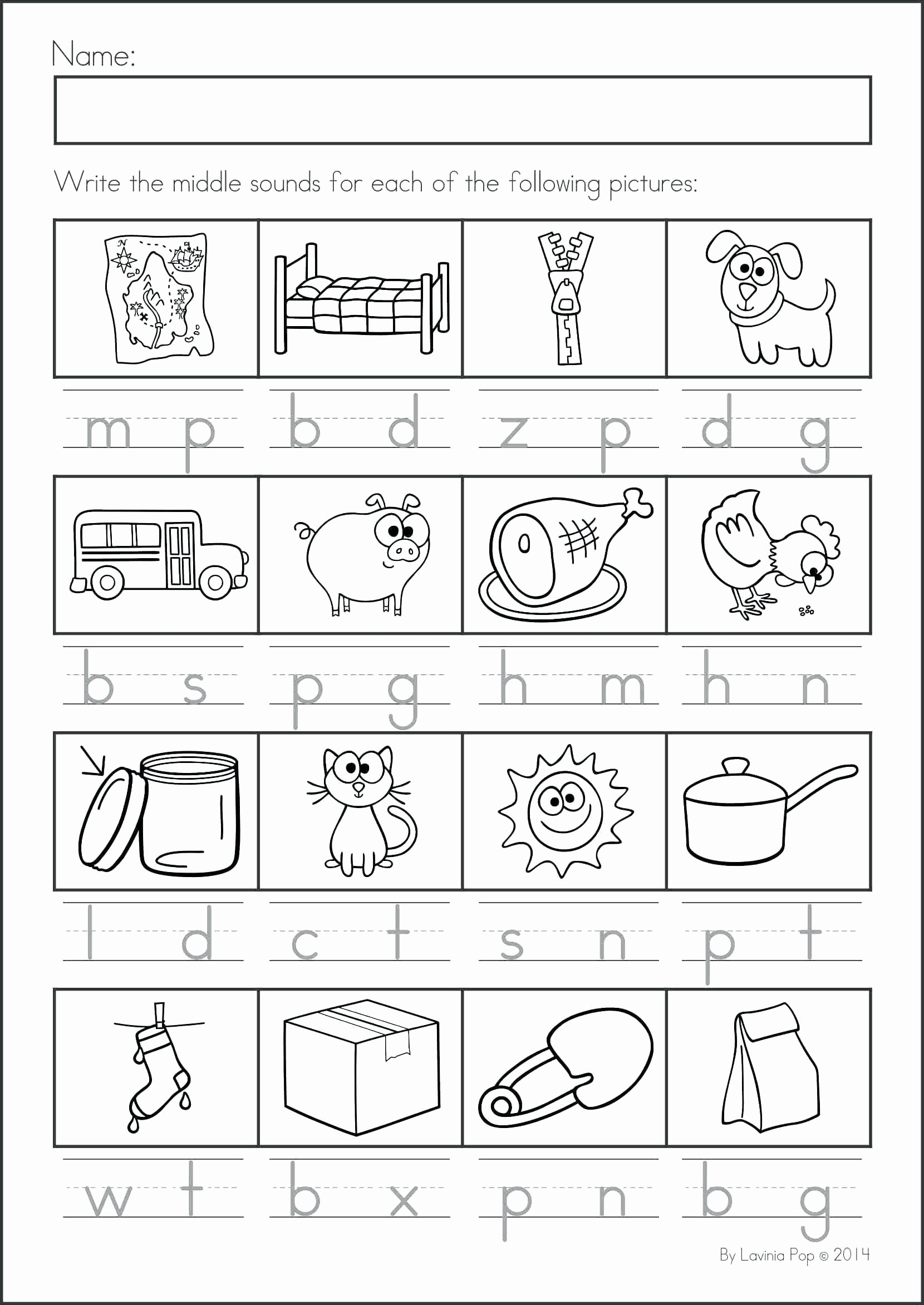 Language Arts Worksheets for Preschoolers Printable Worksheet Kindergarten Reading Language Arts Worksheets