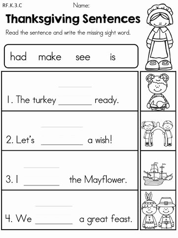 Language Worksheets for Preschoolers Lovely Thanksgiving Literacy Activities Kindergarten