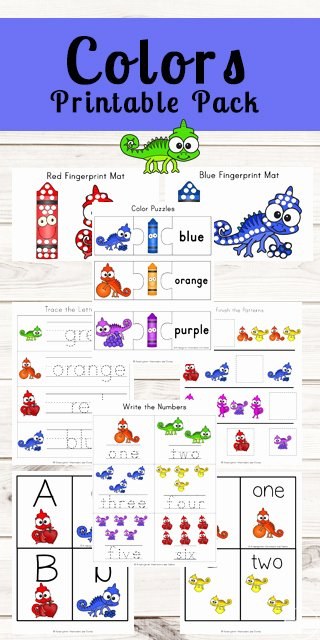 Learning Colors Worksheets for Preschoolers Kids Chameleon Learning Colors Worksheets