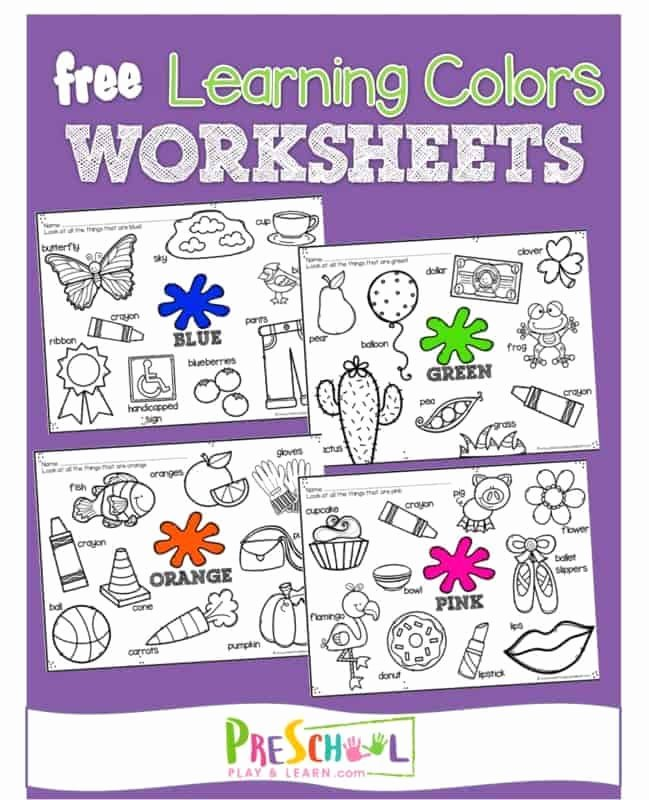 Learning Colors Worksheets for Preschoolers Kids Free Learning Colors Coloring Pages