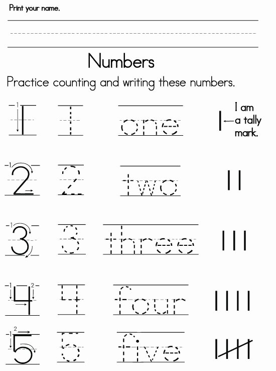 Learning Number Worksheets for Preschoolers Best Of Numbers