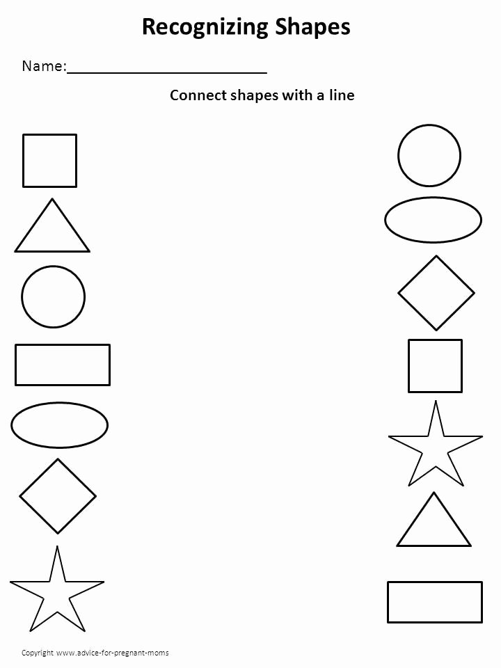 Learning Worksheets for Preschoolers Printable Worksheet for Preschool – Shapes 2