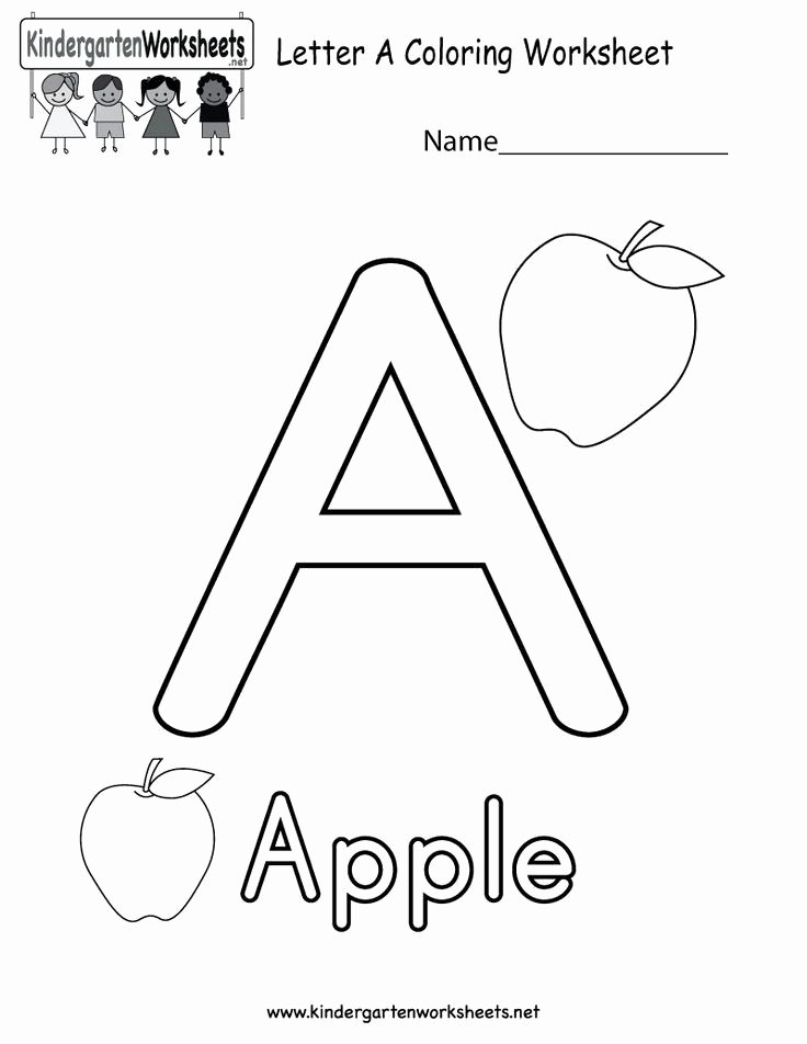 Letter A Coloring Worksheets for Preschoolers Free Alphabet Coloring Worksheets for Kindergarten Luxury 54 Best