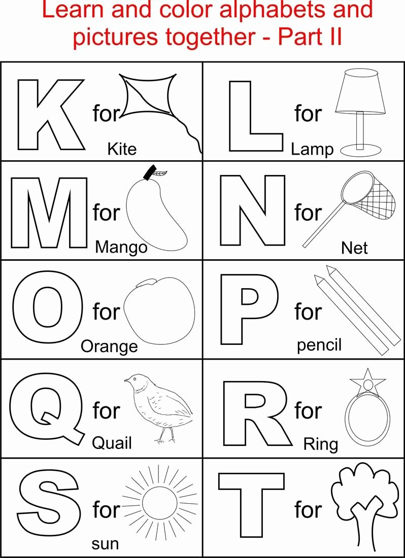 Letter A Coloring Worksheets for Preschoolers Free Alphabet Letters Coloring Pages Inspirations for