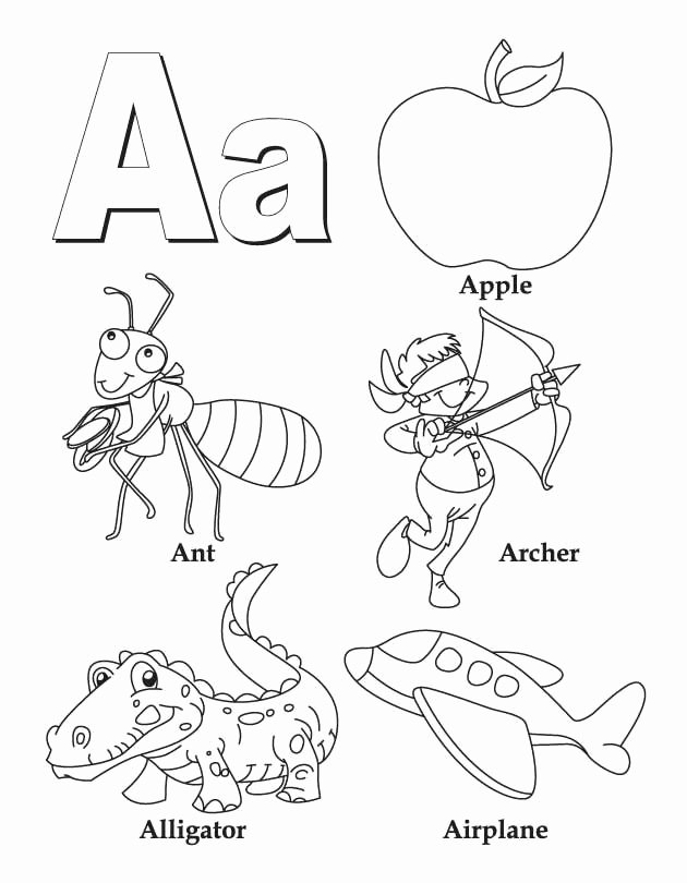 Letter A Coloring Worksheets for Preschoolers Inspirational My A to Z Coloring Book Letter A Coloring Page