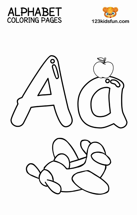 Letter A Coloring Worksheets for Preschoolers Lovely Free Printable Alphabet Coloring Pages for Kids
