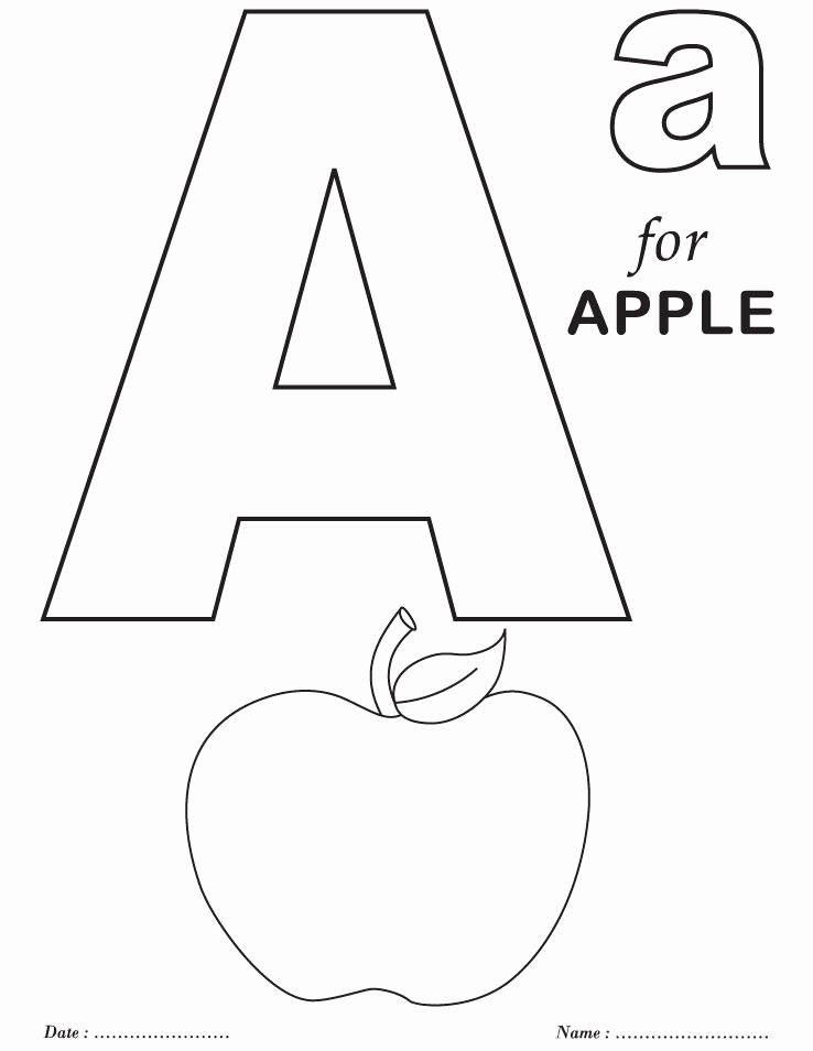 Letter A Coloring Worksheets for Preschoolers Lovely Printables Alphabet A Coloring Sheets