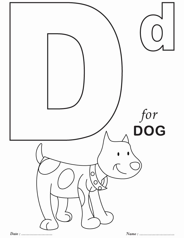Letter A Coloring Worksheets for Preschoolers top Printables Alphabet D Coloring Sheets