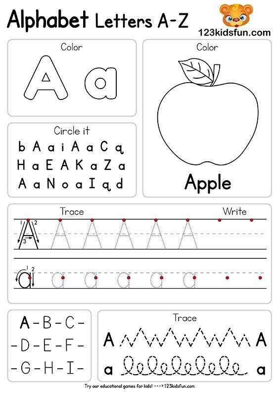 Letter A Printable Worksheets for Preschoolers Free Free Alphabet Practice A Z Letter Worksheets