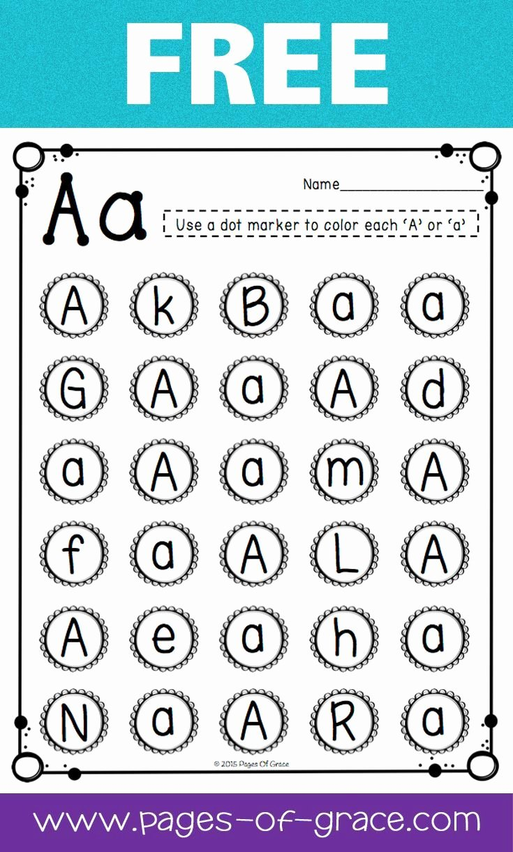 Letter A Recognition Worksheets for Preschoolers New Free Uppercase & Lowercase Letter Recognition Packet