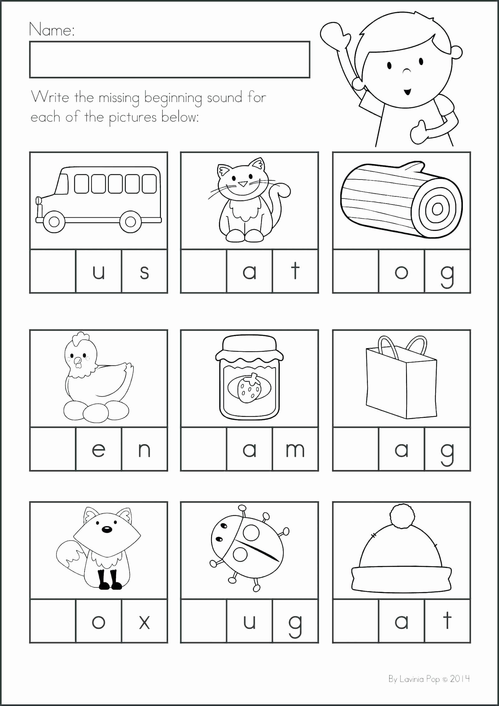 Letter A sound Worksheets for Preschoolers Kids 47 Preschool Worksheets Letters Beginning sounds