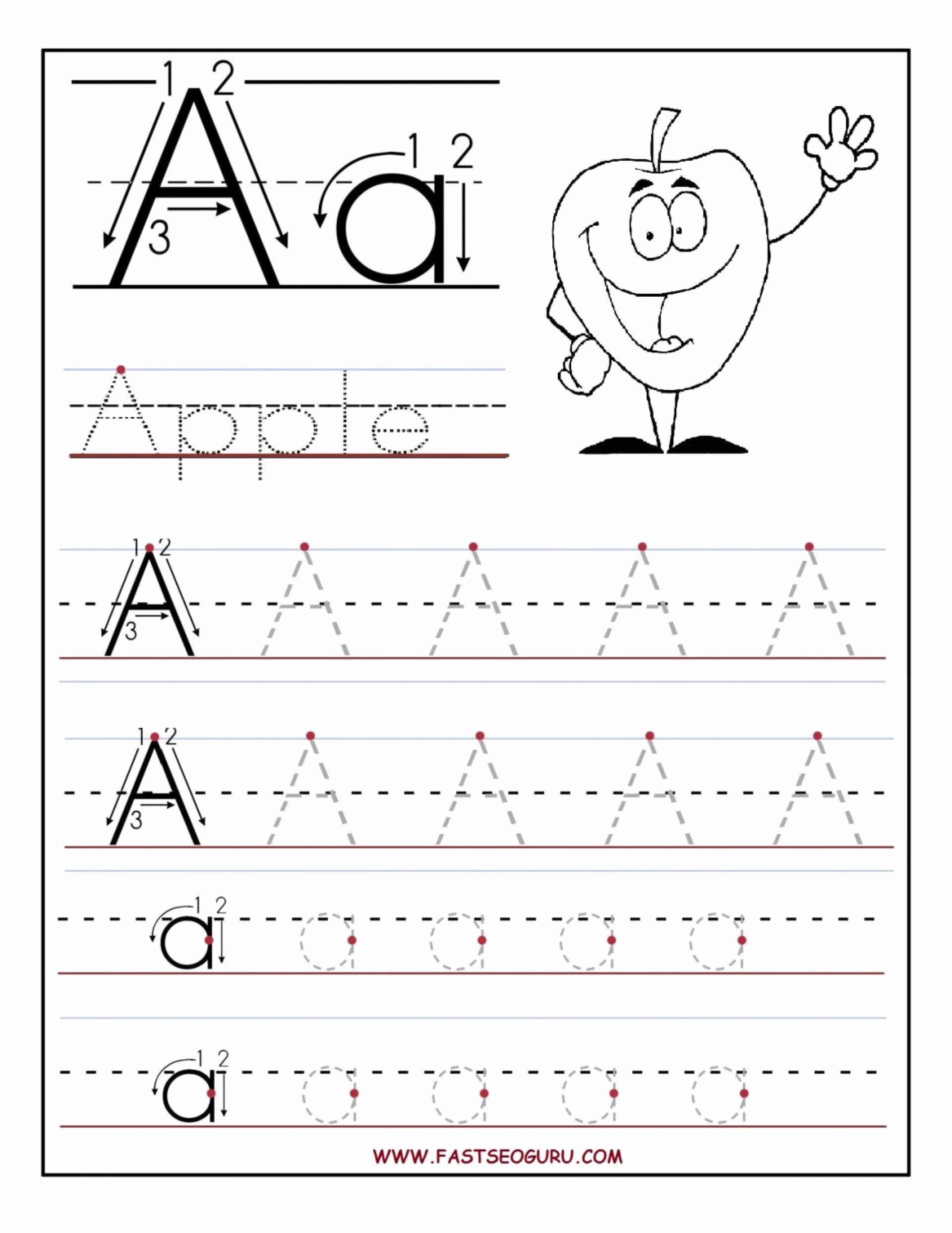 Letter A Worksheets for Preschoolers Free top Coloring Book Preschool Free Printable Worksheets Tracing
