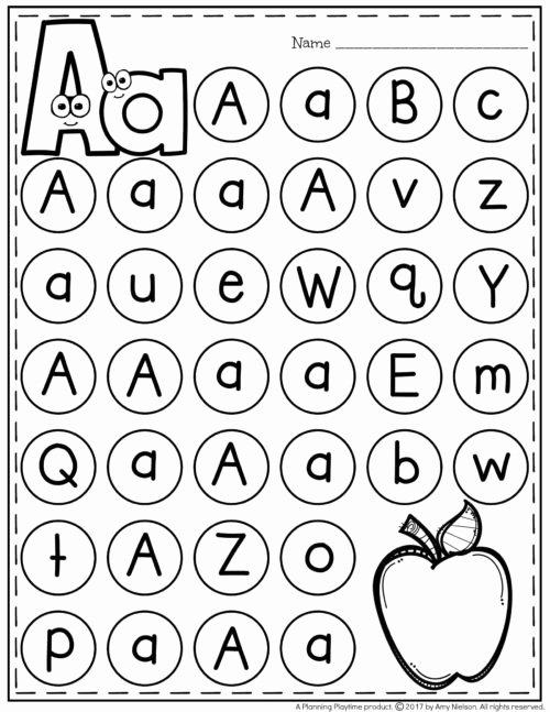 Letter A Worksheets for Preschoolers Fresh Letter Worksheets Planning Playtime for toddlers Alphabet
