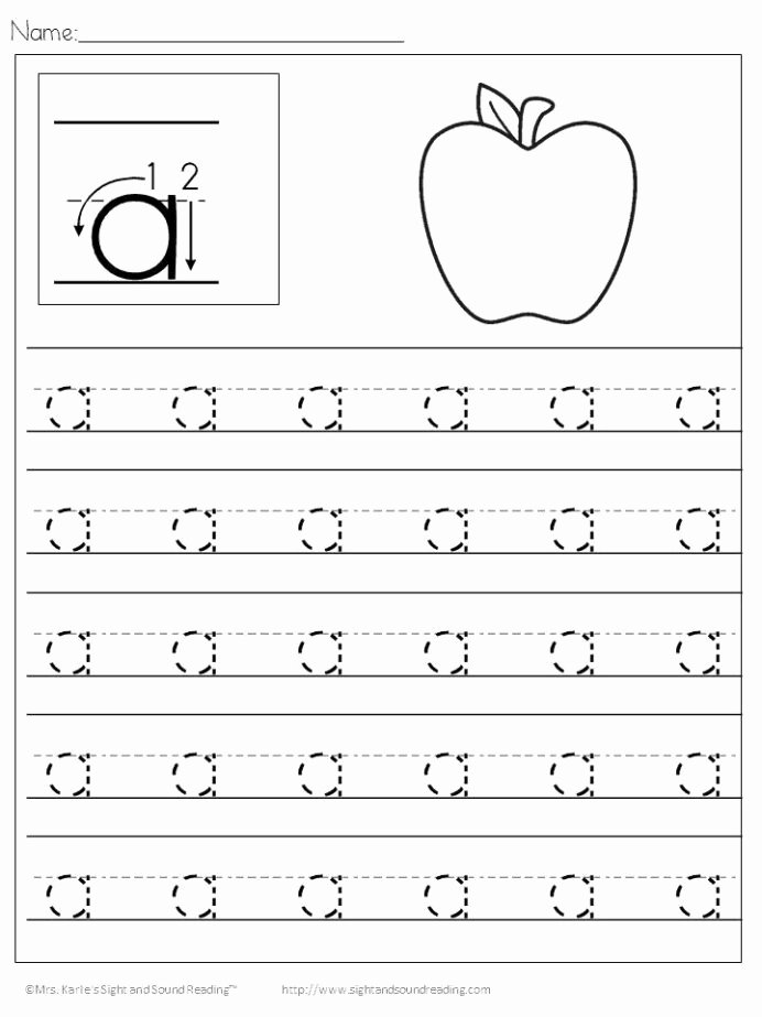 Letter A Writing Worksheets for Preschoolers top Free Preschool Handwriting Practice Worksheets Easy Age
