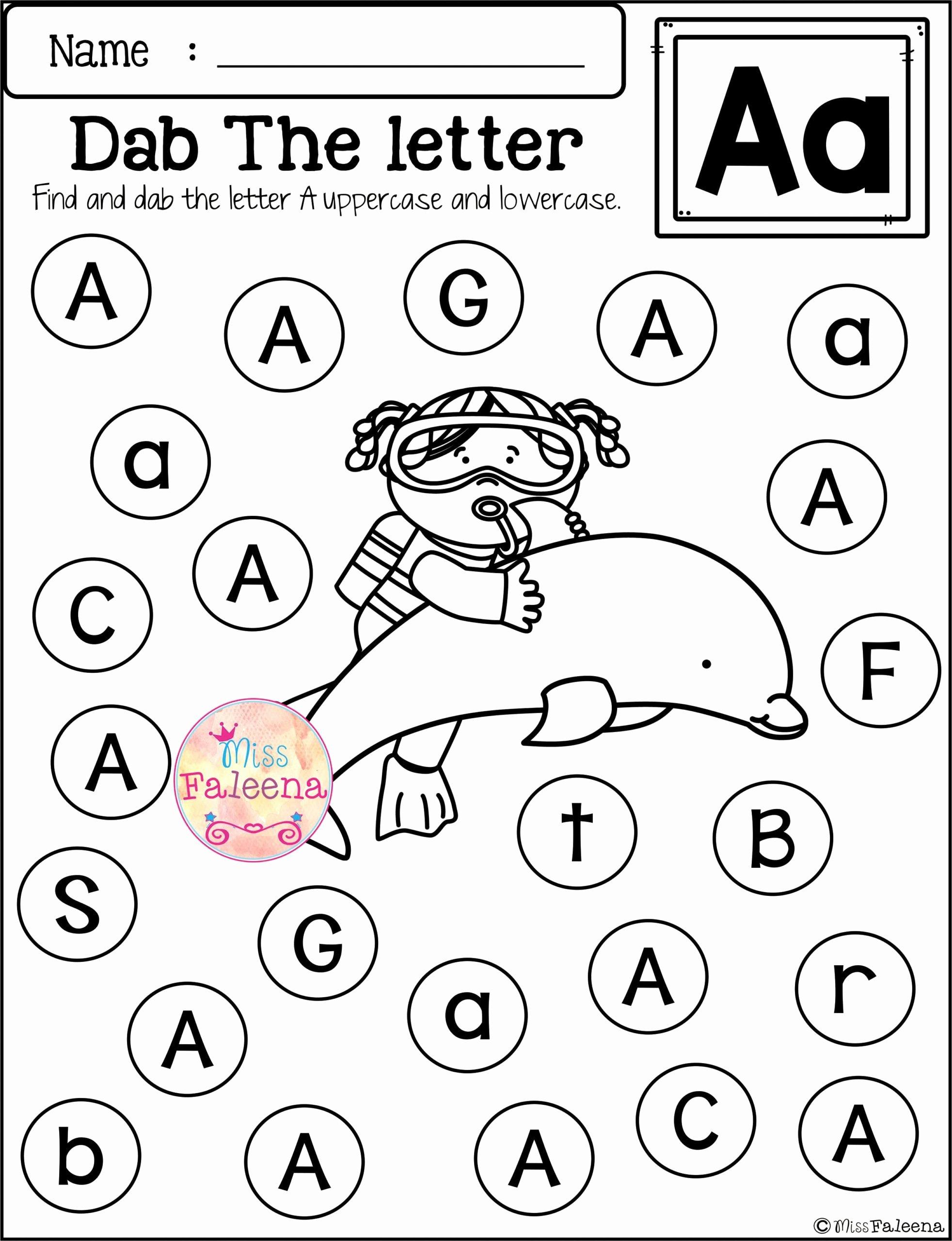 Letter Aa Worksheets for Preschoolers Best Of Worksheets Free Alphabet Kindergarten Worksheets Preschool
