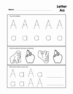 Letter Aa Worksheets for Preschoolers Inspirational Letter Aa Tracing Practice and Patterns Worksheet Preschool