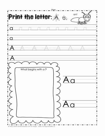 Letter Aa Worksheets for Preschoolers Inspirational the Letter Aa Worksheets