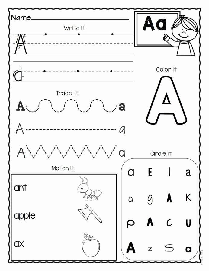 Letter Aa Worksheets for Preschoolers Kids Letter Worksheets Set Alphabet Preschool Italian the Game