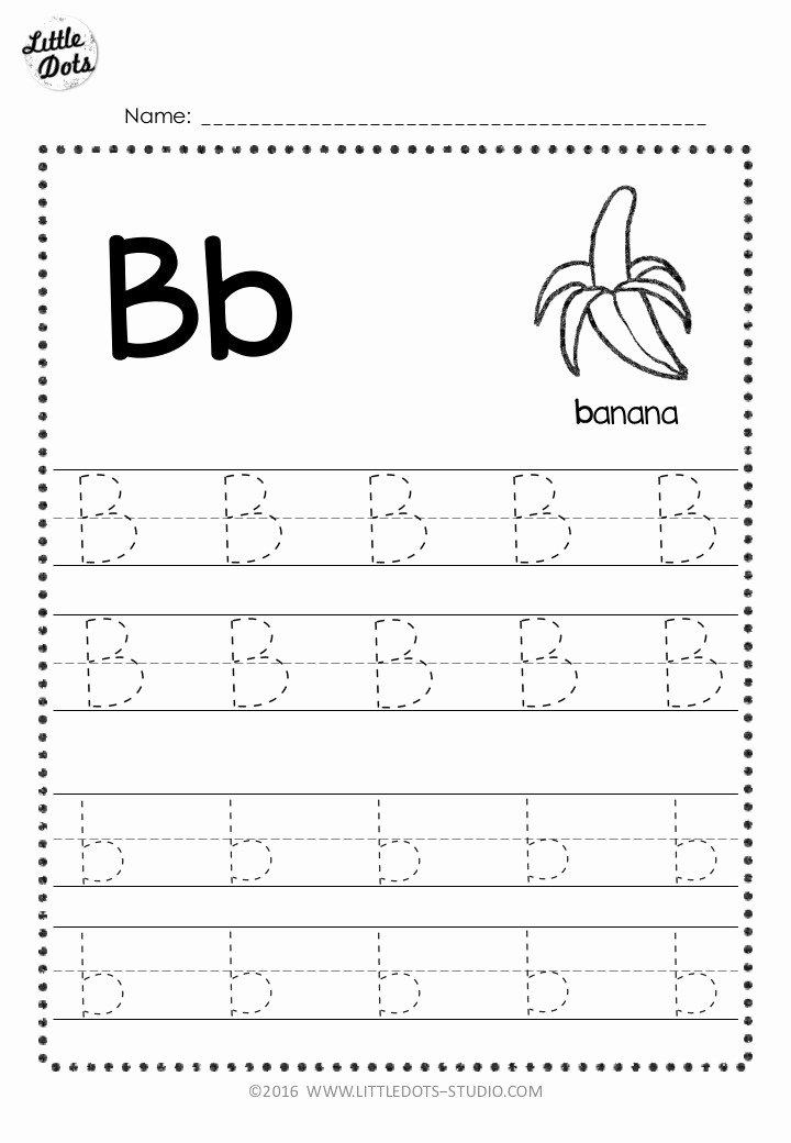 Letter B Worksheets for Preschoolers Best Of Free Letter B Tracing Worksheets