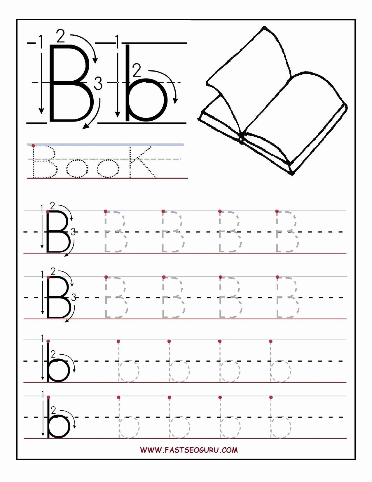 Letter B Worksheets for Preschoolers Free Printable Letter B Tracing Worksheets for Preschool