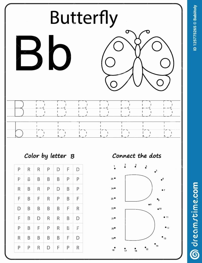Letter B Worksheets for Preschoolers Ideas Writing Letter Worksheet Alphabet Exercises Game Learning
