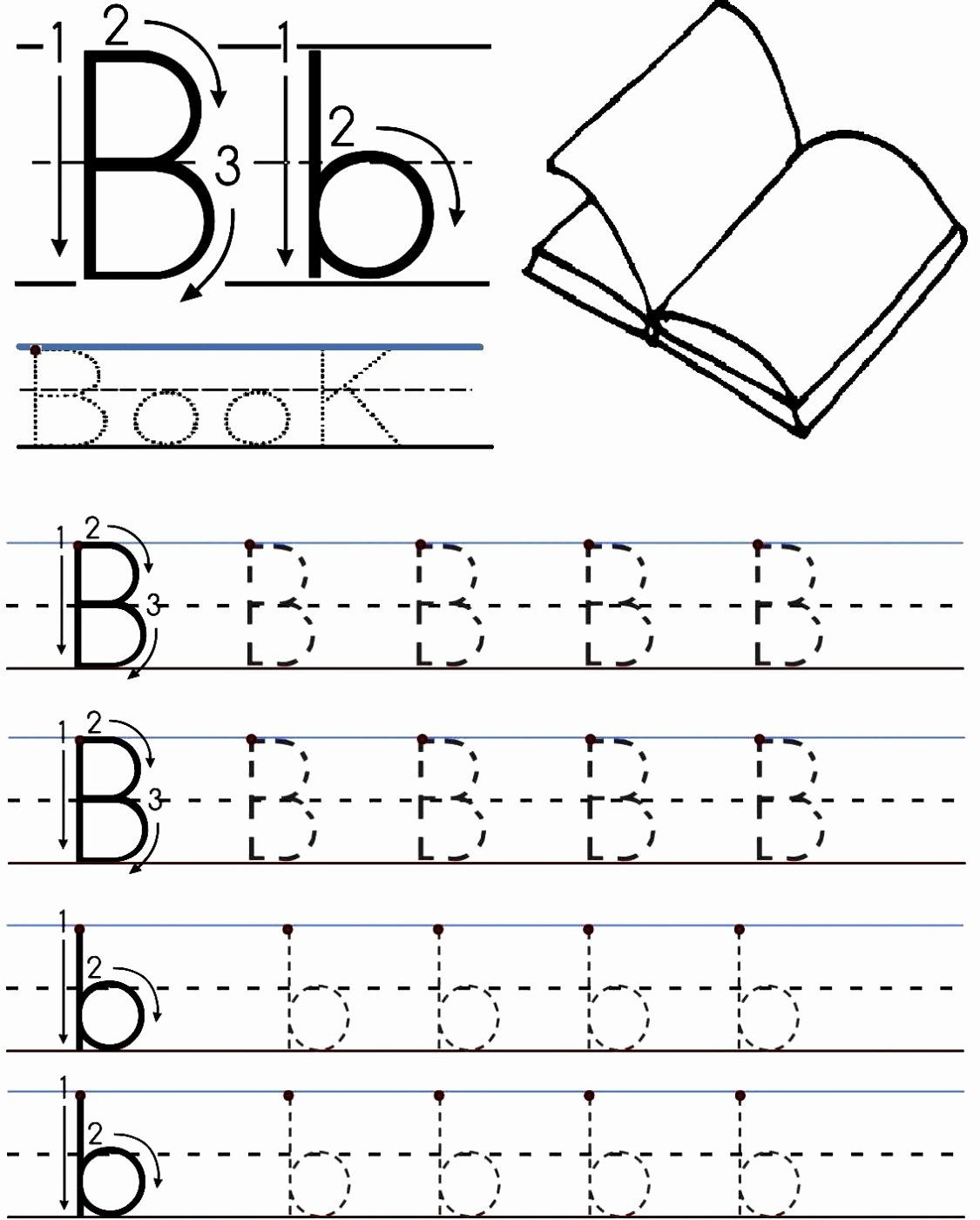 Letter B Worksheets for Preschoolers Kids Letter B Worksheets for Free Download Letter B Worksheets