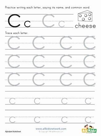 Letter C Tracing Worksheets for Preschoolers Lovely Letter C Tracing Worksheet