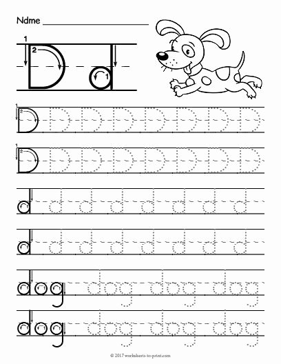 Letter D Tracing Worksheets for Preschoolers Lovely Free Printable Tracing Letter D Worksheet